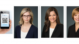 ImageMover Mobile pictured left, and the new leadership team from left to right includes: Darcey Nett, President, Gabriela Frazer, Chief Operating Officer, and Laura Brown, Director of Clinical Sales and Partnerships.